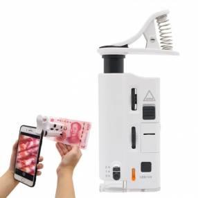 Mini microscopio lupa para teléfonos aumento 60X-100X