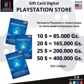 Gift Card PlayStation Store en USD para cuentas USA