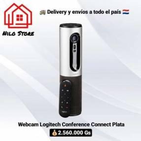 Webcam Logitech Conferencia Connect plata