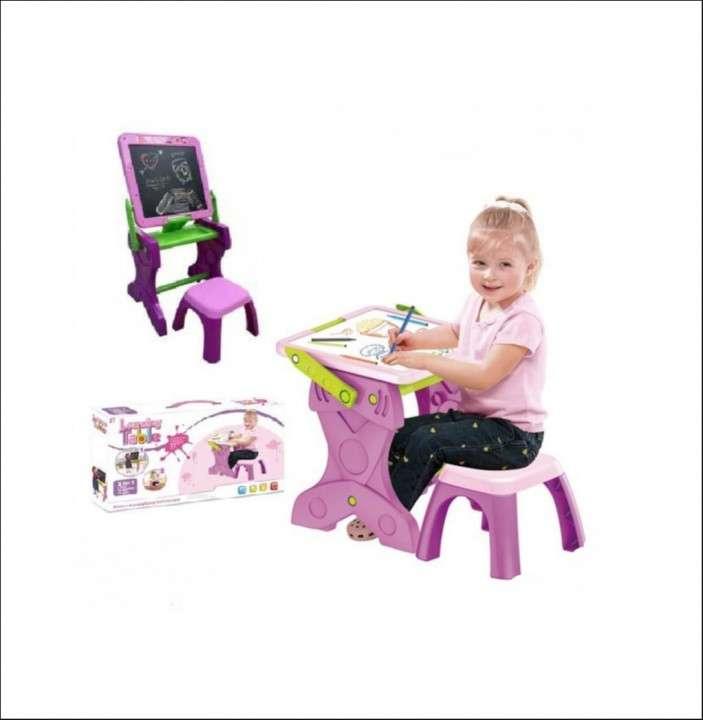 Escritorio pizarrón tatiki rosado para niños kids - 0