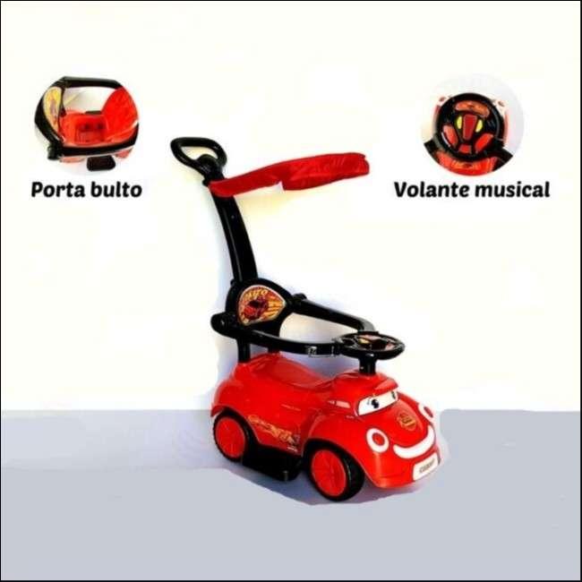 Auto para niños buggy rojo con sonido con empujador - 0