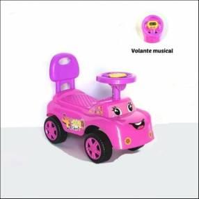 Auto para niños buggy música rosa con sonido