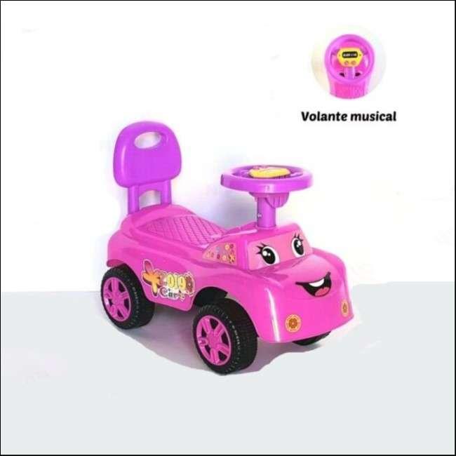 Auto para niños buggy música rosa con sonido - 0