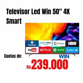 Televisor smart 4K Win 50 pulgadas