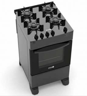 Cocina JAM Eva 4H a gas top cristal mesada de vidrio negro