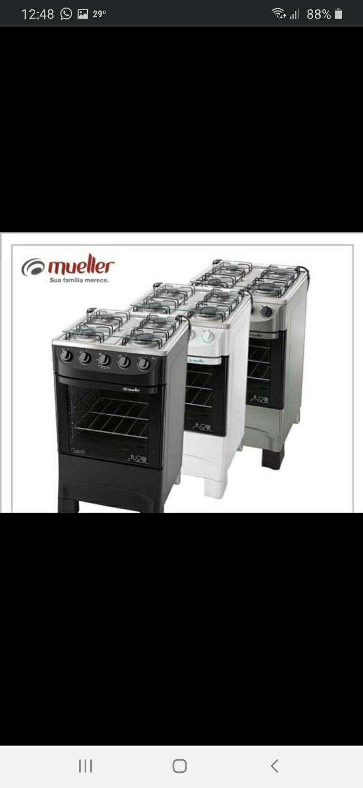 Cocinas Mueller 4 hornallas en 4 colores tapa de vidrio - 0