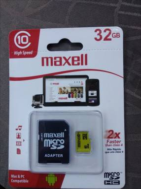 Tarjeta de memoria micro SDHC clase 10 Maxell 32gb