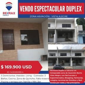 Dúplex a estrenar en barrio Vista Alegre
