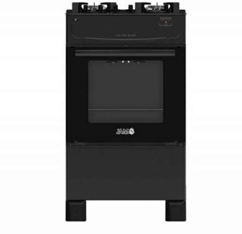 Cocina JAM Eva 4H a gas top cristal mesada de vidrio negro - 1