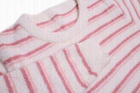 Pijama femenino líneas rosadas