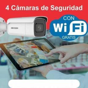 Kit de 4 cámaras de vigilancia wifi a cuotas