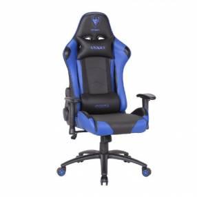 Silla gamer azul negro Sate A-GC8702