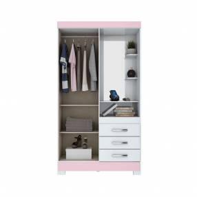 Ropero 2 puertas B64 Briz blanco blanco rosa 30027