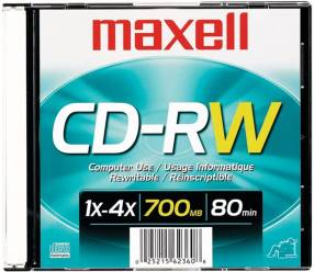 DVD+RW 4X 4.7 CJA SINGLE MAXELL (50116)