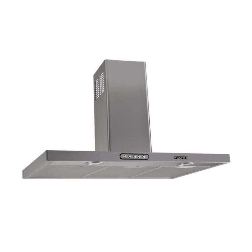 Campana de pared rectangular slim 90cm fogatti inox (30057) - 0