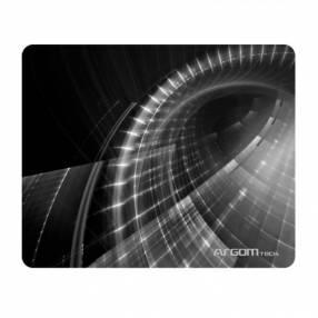 Mouse pad Argom ARG-AC-1235WT PAD 8.5X10'' negro/blanco