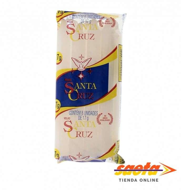 Velas blancas Santa Cruz 17 gramos paquete de 8 unidades - 0