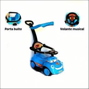 Auto para niños buggy azul con sonido con empujador