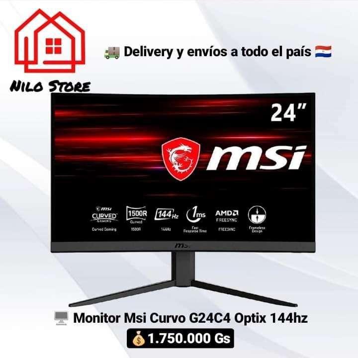 """Monitor MSI 24"""" G24C4 Curvo Gaming 144hz 1ms - 0"""