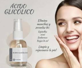 Acido glicólico y crema Hands Luva de silicona