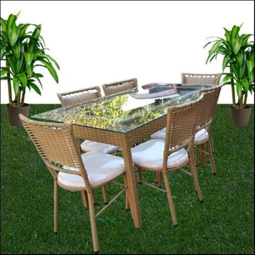 Juego de Comedor Ratam sillas c/ mesa de vidrio - 0