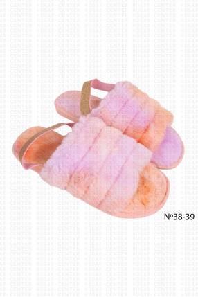 Pantufla peluda tie dye 38 39 horma pequeña