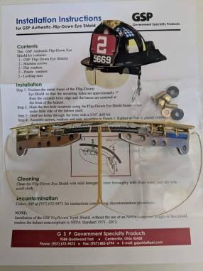 Bourkes protector facial para casco de bombero