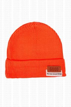 Gorra anaranjado tela acrílica 20x18 cm