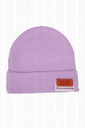 Gorra lila tela acrílica 20x18 cm
