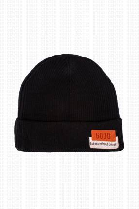 Gorra negra tela acrílica 20x18 cm