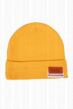 Gorra amarilla tela acrílica 20x18 cm