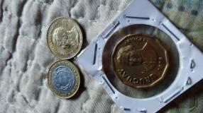 Colección de monedas de Argentina y Uruguay