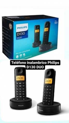 Teléfono inalámbrico Philips D130 DUO