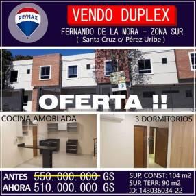Dúplex en Fernando de la Mora zona Sur