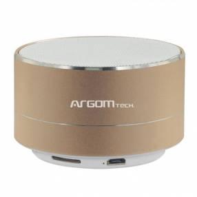 Parlante ARG-SP-2803GD BT dorado/plateado