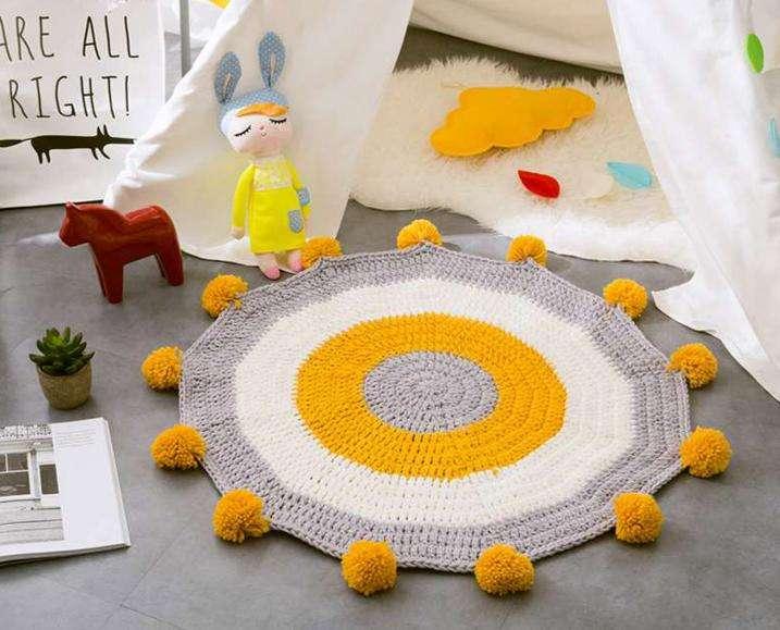 Alfombra de lana 85x85cm - 3