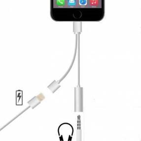 Adaptador 2 en 1 de iPhone a auricular normal