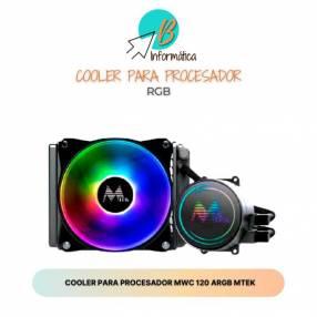 Cooler para procesador rgb, MWC 120 Mtek