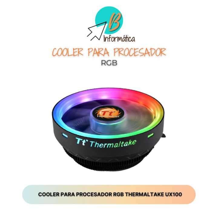 Cooler para procesador RGB Thermaltake UX100 - 0