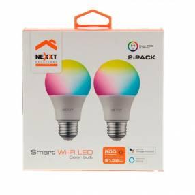 Foco led NHB-C110 pack2 110V 9W luz multicolor Nexxt IOT