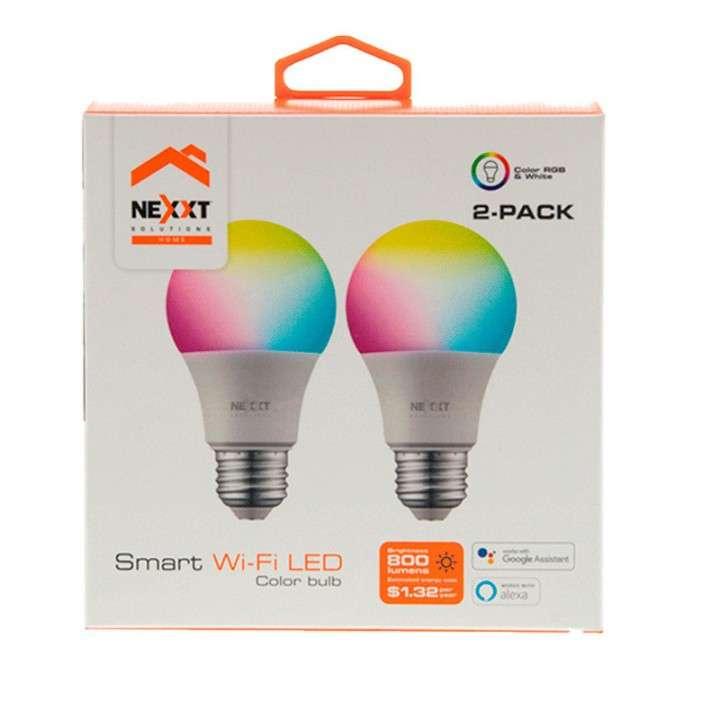 Foco led NHB-C110 pack2 110V 9W luz multicolor Nexxt IOT - 0