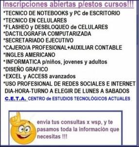 Curso de informática para niños, jóvenes y adultos