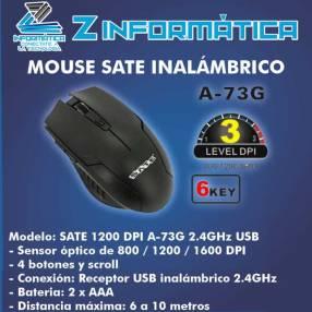 Mouse inalámbrico 2.4G Sate A-73G