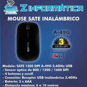 Mouse SATE A-49G inalámbrico