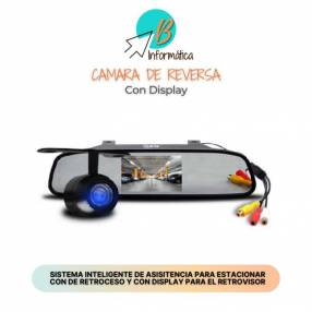 Cámara de reversa con Display LCD para vehículo