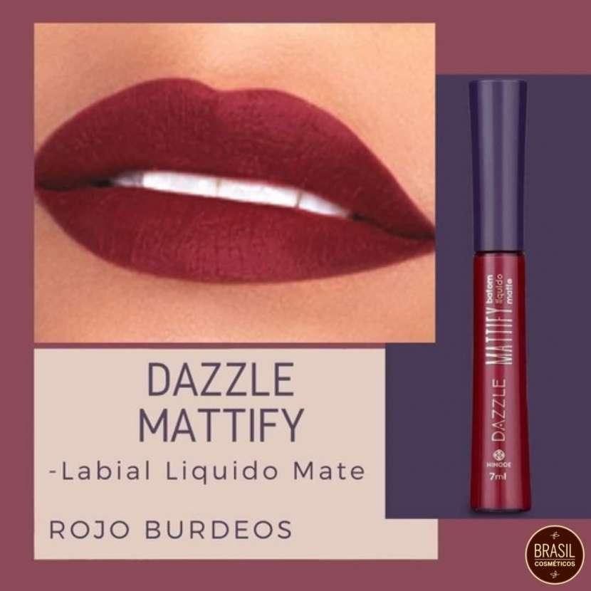 Labial líquido matte rojo bordó Hinode Dazzle - 0