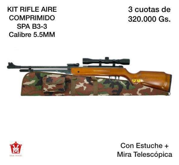 Kit rifle aire comprimido 5.5 estuche con mira - 0
