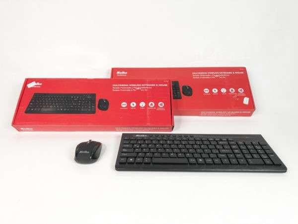 Teclado multimedia y mouse inalámbrico