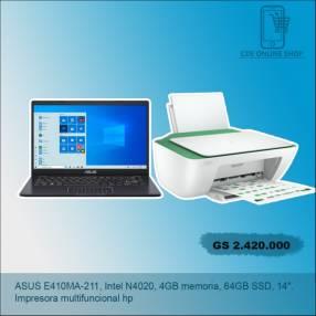 Notebook con impresora