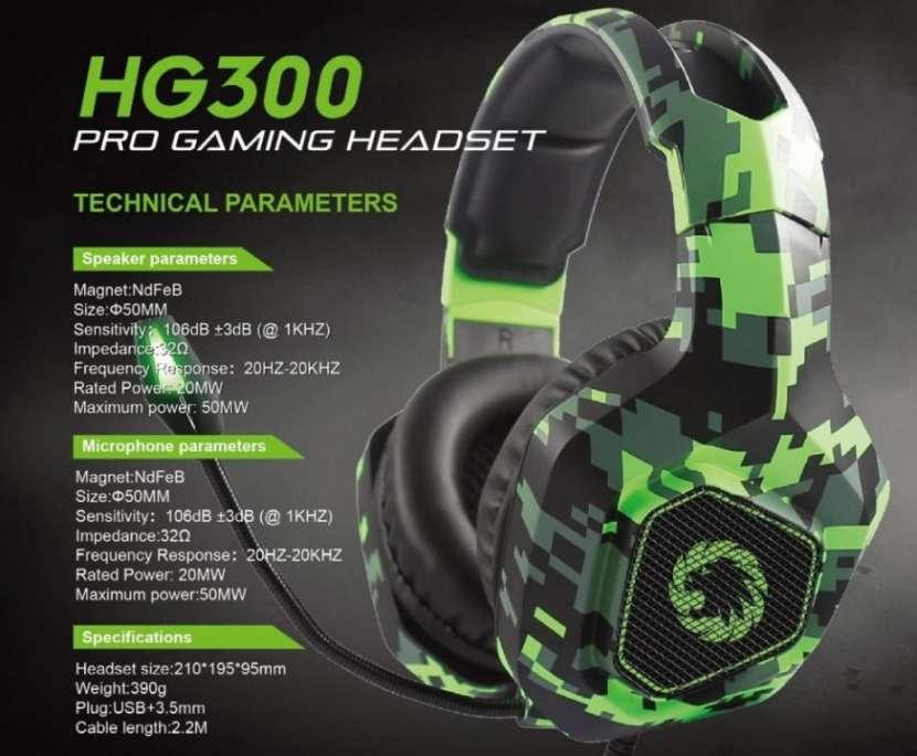 Auricular para juego GameMax HG300 para PS4 Xbox One PC - 1